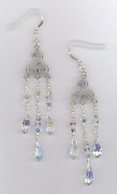 Custom Made Pretty In Crystal Chandelier  Wedding Earrings
