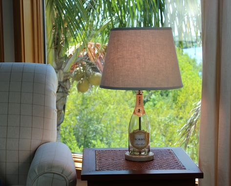 Custom Made Wine Bottle Table Lamp