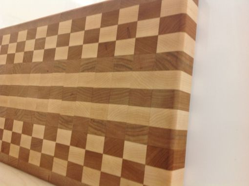 Custom Made Maple And Cherry Checkered Cutting Board