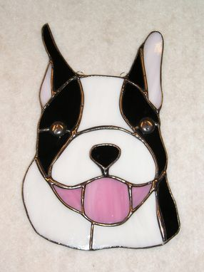 Custom Made Boston Terrier Stained Glass Sun Catcher