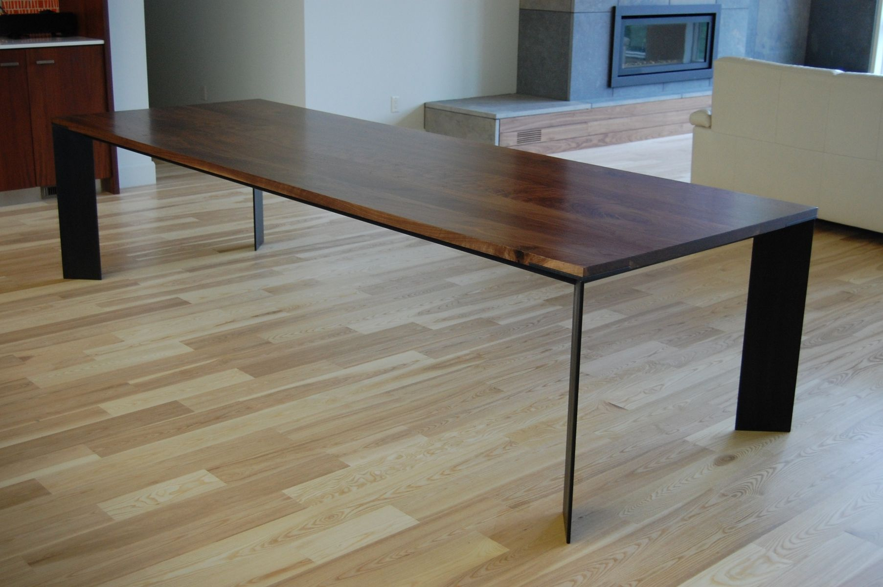 handmade walnut dining table by b holland co