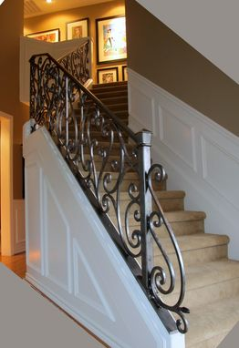 Custom Made Penny End Scroll Railing