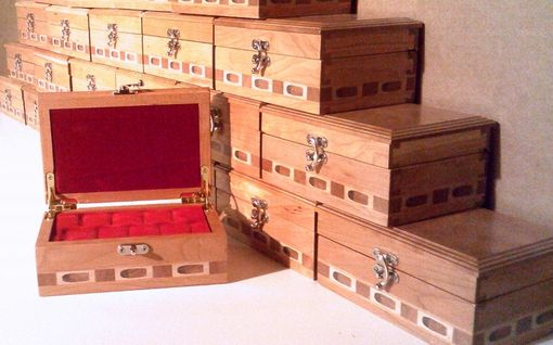 Custom Made Custom Made Small Wood Ammunition Box With Form Fitted Insert