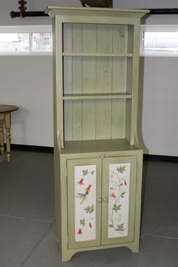 Custom Made Custom Painted Green Bookshelf