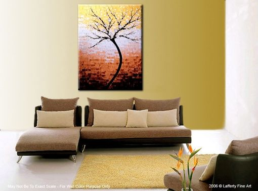 Custom Made Contemporary Impasto Abstract Floral Tree Painting, Xlarge Original Gallery Wrap Canvas Art