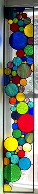 Custom Made Contemporary Stained Glass Bubble Window / Hanging Colorful (P-124)