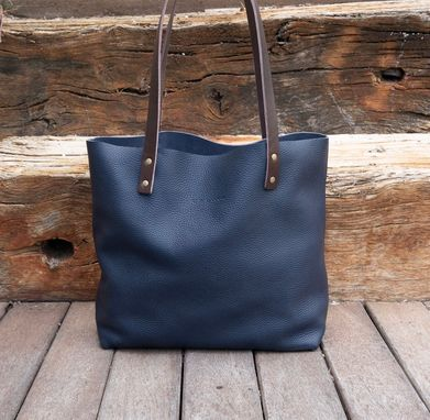 Custom Made Shoulder Bag, Large Leather Bag, Leather Bag, Shopping Bag, Distressed Leather, Leather Bag Woman