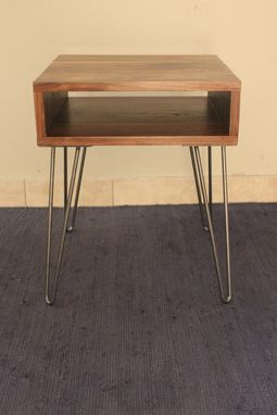 Custom Made Mid Century Modern Walnut End Table