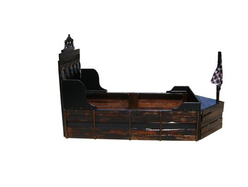 Custom Made Pirate Ship Twin Bed