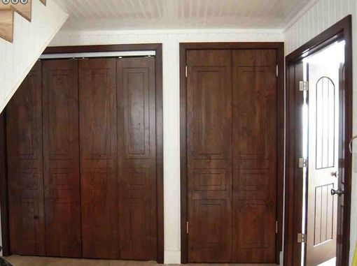 Custom Made Custom Reclaimed Wood And Mahogany Closet Doors