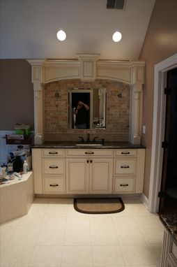 Custom Made Bathroom Vanity And Arch