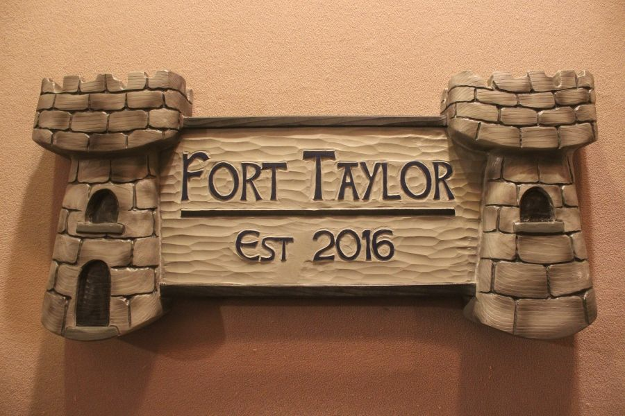 Handmade Castle Signs, Medieval Signs, Family Name Signs By