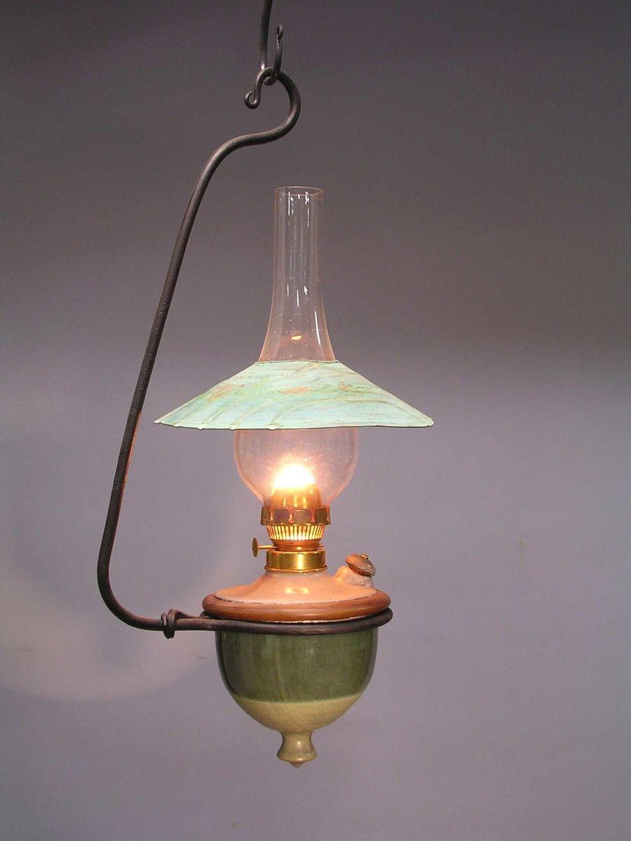 Custom Made Hanging Oil Lamp