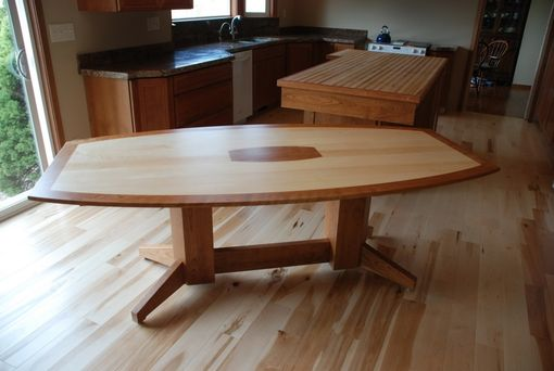 Custom Made Maple And Cherry Dining Table