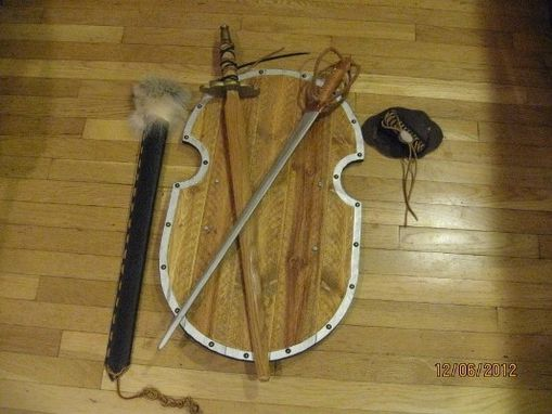Custom Made Short Sword With Leather Scabbard