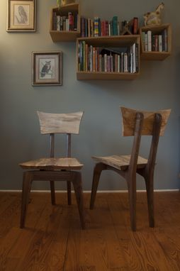 Custom Made Walnut And Spalted Maple Chair
