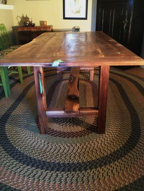 Custom Made Walnut Trestle Table