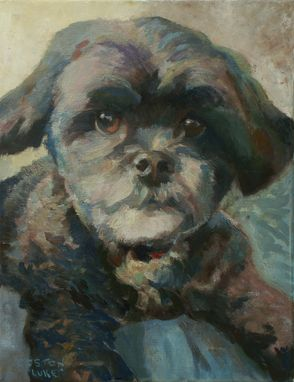Custom Made Dog Portrait Oil Painting