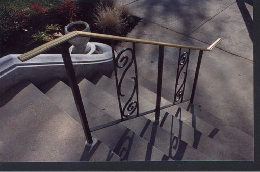 Custom Made Bronze And Steel Powder Coated Railing