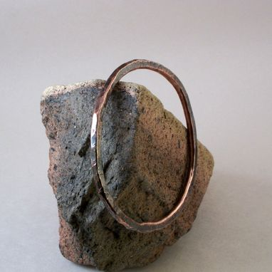"Custom Made Textured Copper Bangles In Set Of 3 ""Three Organic Substantial Copper Bangles''"