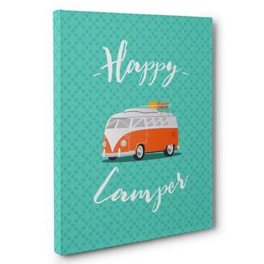 Custom Made Happy Camper Canvas Wall Art