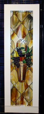 Custom Made Stained And Designed Glass Cabinet Inserts