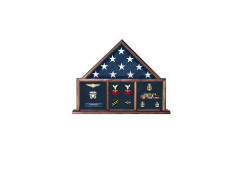 Custom Made Memorial Flag Case, Three Bay Shadow Box