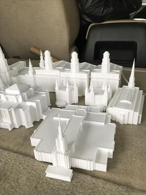 Custom Made Lds - Temple - Sculpture - 3d Print - Art - Center Piece - Wedding - Home Decor