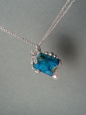 Custom Made Chrysocolla Multi Stone Pendant
