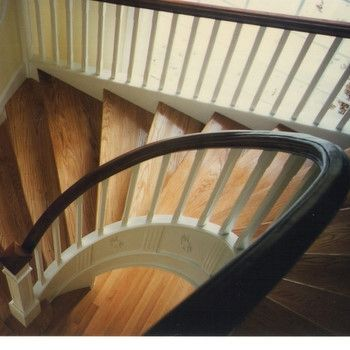 Custom Made Classic Open Under Radius Staircase