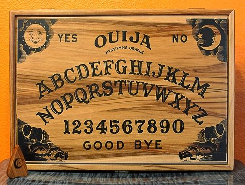 Custom Made Ouija Board Ipad Box In Red Gum