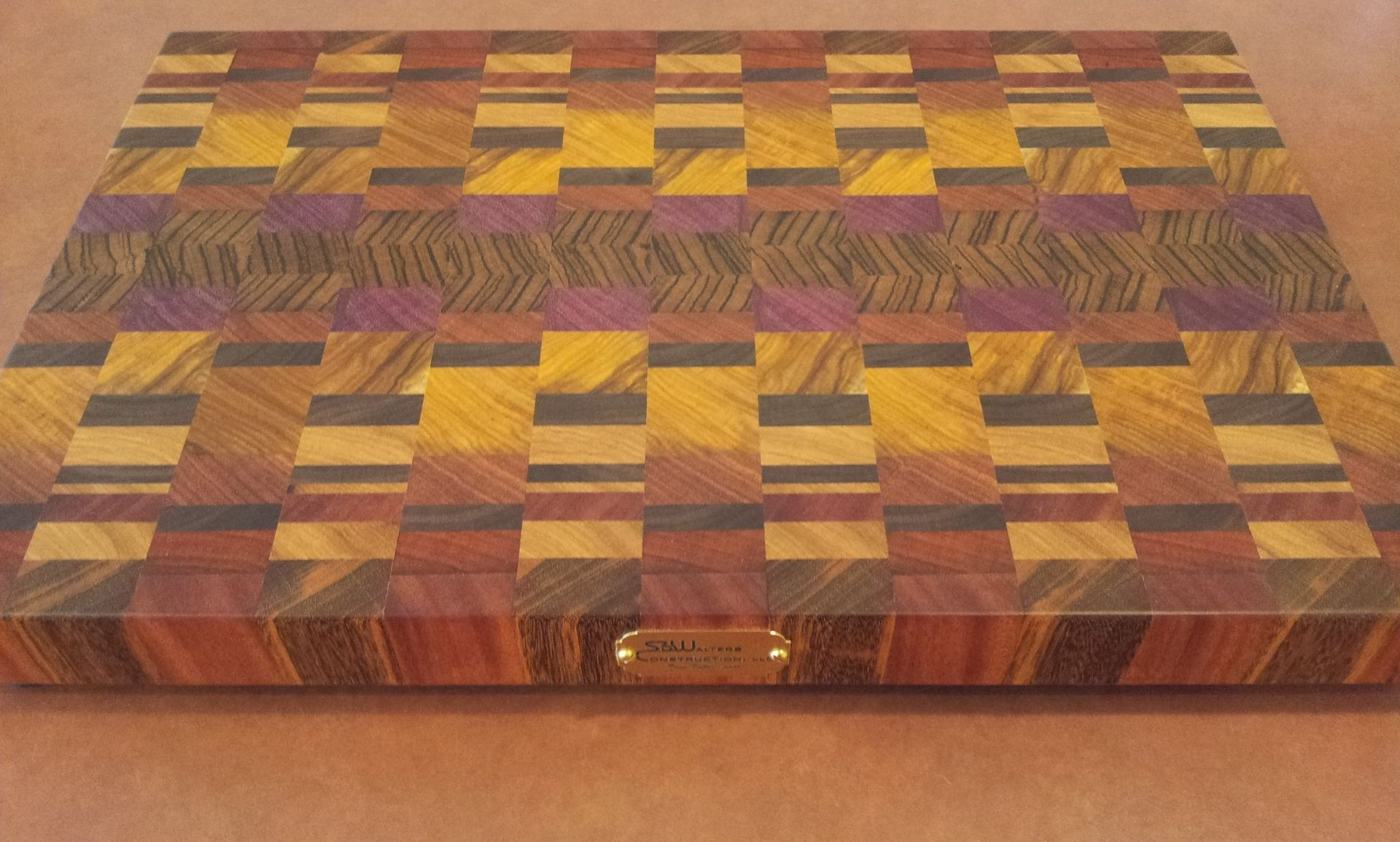 hand made custom cutting board for a custom made client by, Kitchen design