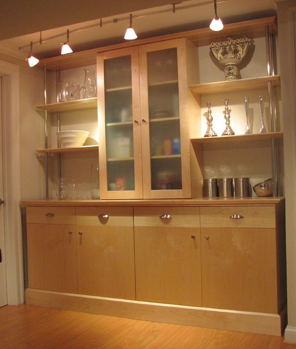 Hand made maple kitchen wall unit by scott pennington for Glass kitchen wall units