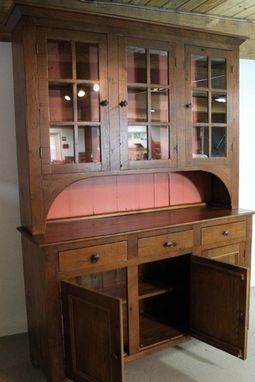 Custom Made Rustic Extra Large Hutch From Reclaimed Old Pine