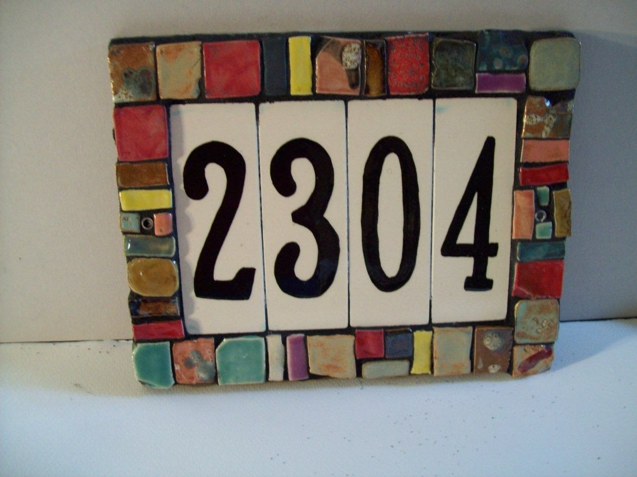 Custom Made Handmade Ceramic Porcelain House Number Tiles Backspashes