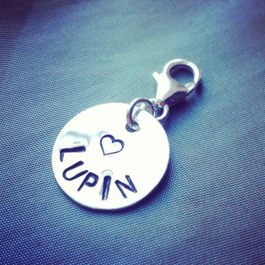 Custom Made Sterling Silver Custom Pet Collar Tag Id Charm