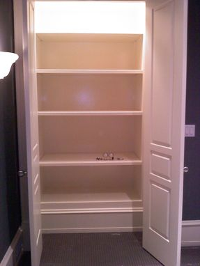 Custom Made Custom Shelving Units Built In Walls With Solid Core Doors