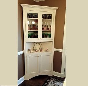 Custom Made Farm Style Dinning And Kitchen China Cabinet