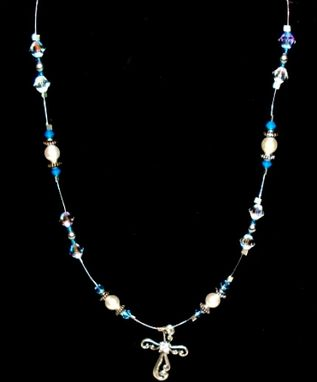 Custom Made Children's Baby Blue Necklace