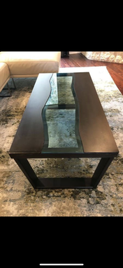 Custom Made Metal River Coffee Table