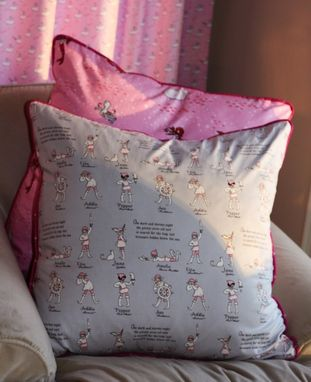 Custom Made Fabric Custom Euro Pillow With Piping And Fabric Covered Buttons 26 X 26