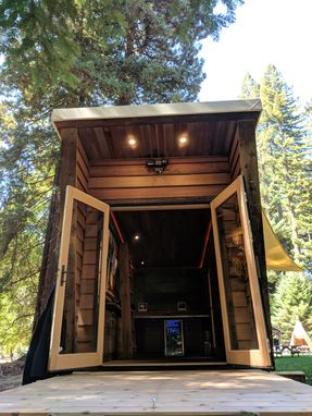 Custom Made Reclaimed Wood Tiny House Style Trailer (Mobile Showroom/ Office/ Studio/ Camper)