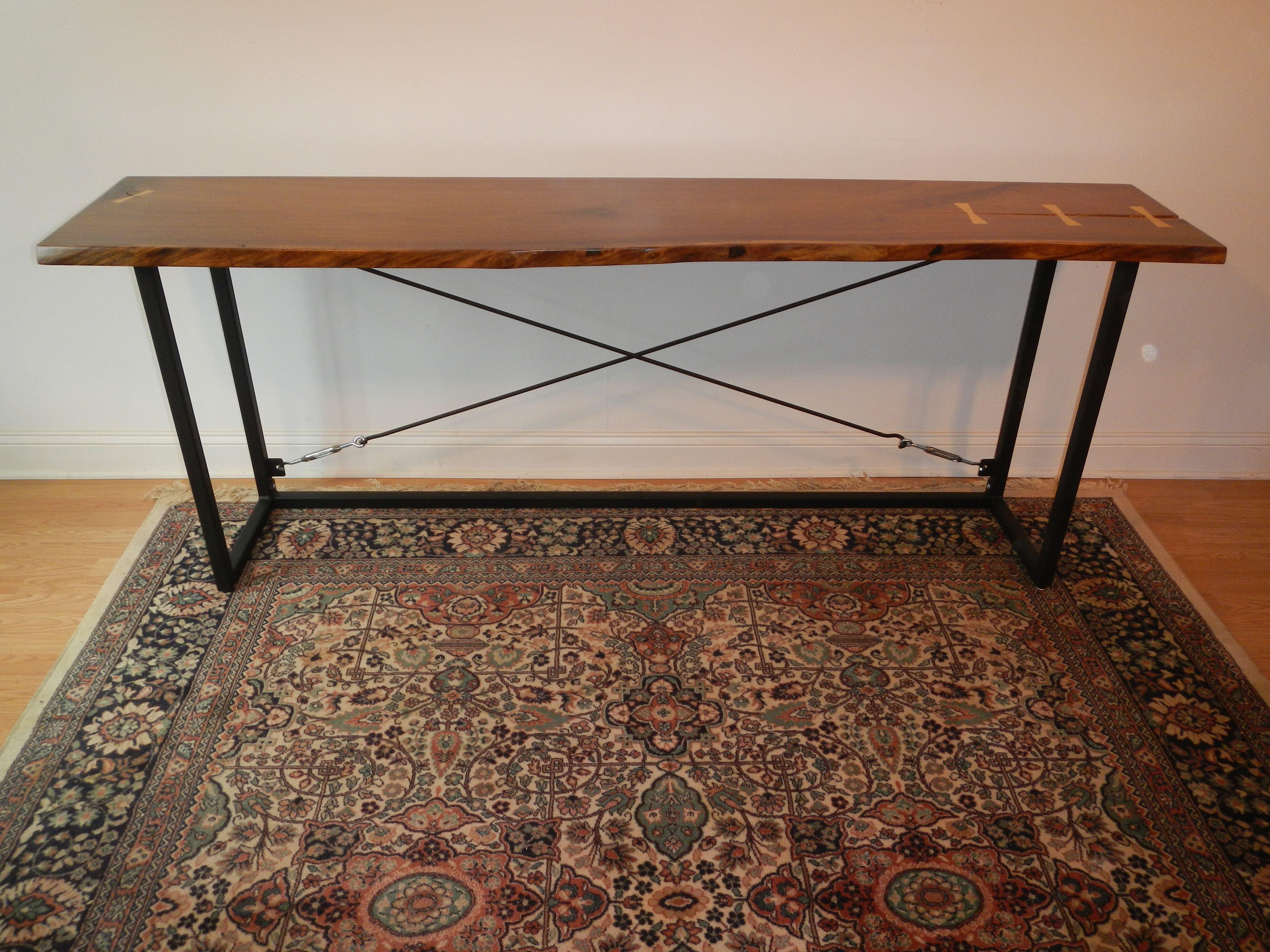 Strange Live Edge Black Walnut Console Table Ibusinesslaw Wood Chair Design Ideas Ibusinesslaworg