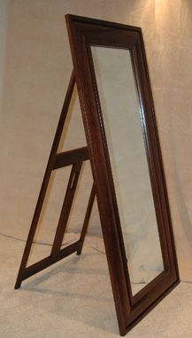 Custom Made Handcrafted Walnut Standing Floor Mirror