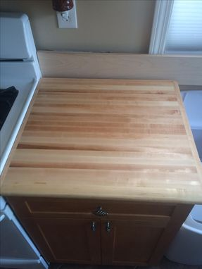 Custom Made Hard Maple Butcher Block Counter Top