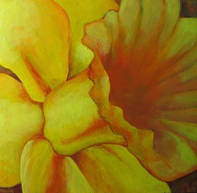 Custom Made Dad's Daffodil Painting