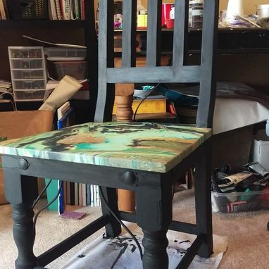 Custom Made Hand Painted Wooden Chair