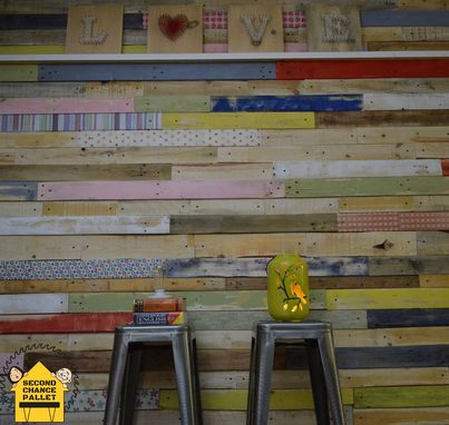 Custom Made Pallet Wall Skin, Pallet Wall Paneling, Wood Paneling For Walls