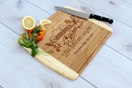 Custom Made Personalized Cutting Board, Engraved Cutting Board, Custom Wedding Gift – Cb-Bam-Grandma's Kitchen