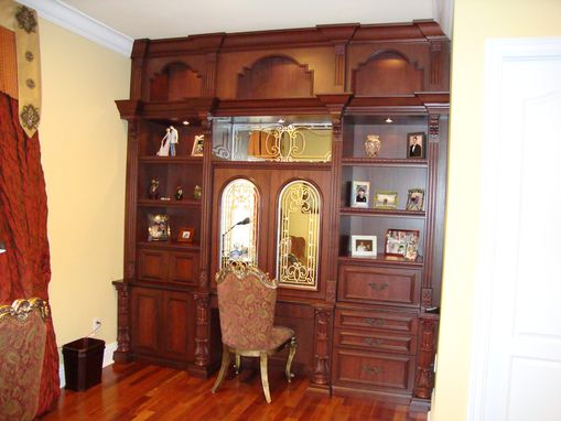 Custom Made Mahogany Office Wall